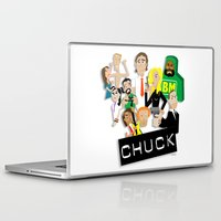 chuck Laptop & iPad Skins featuring CHUCK by Seedoiben