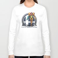 super smash bros Long Sleeve T-shirts featuring Samus - Super Smash Bros. by Donkey Inferno