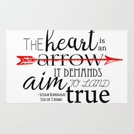 THE HEART IS AN ARROW | SIX OF CROWS BY LEIGH BARDUGO Rug