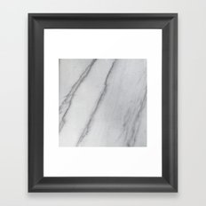 Sophisticated Polished White Marble Framed Art Print