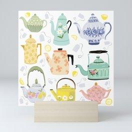 Vintage Teapots Mini Art Print