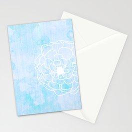 Modern Sky Retro Flower Stationery Cards