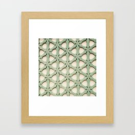 Jade Lattice Framed Art Print