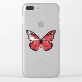 Butterfly Flag Of Tonga Clear iPhone Case