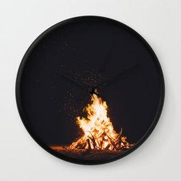 BONFIRE - FIRE - HOT - PHOTOGRAPHY Wall Clock