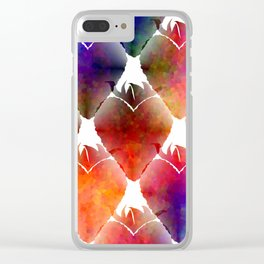 Heart Shape Strawberry Clear iPhone Case