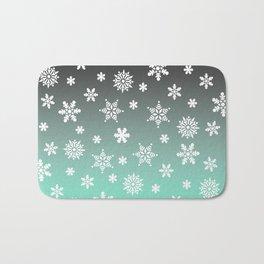 Snow Flurries-Gray/Aqua Ombre Bath Mat