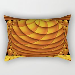 Fractal Family Wood Rectangular Pillow