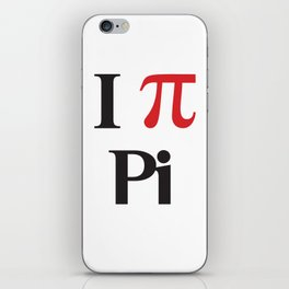 I Heart Pi iPhone Skin