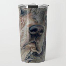 English Setter Dog portrait Pastel drawing Travel Mug