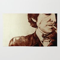 dylan Area & Throw Rugs featuring Bob Dylan by Farinaz K.