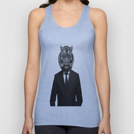 Suited Tiger Unisex Tank Top