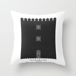 HexArchi - Portugal, Ponte de Lima, Torre da Cadeia Velha Throw Pillow
