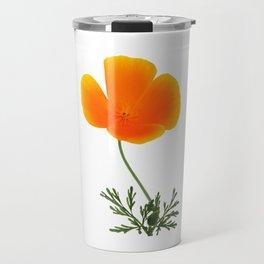 orange poppy Travel Mug