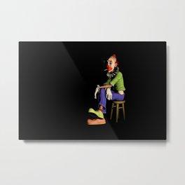 The Melancholic Clown Artwork Metal Print