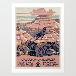 Grand Canyon Vintage Art Print