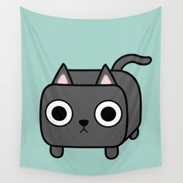 Cat Loaf - Grey Kitty Wall Tapestry