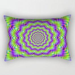 Crinkle Cut Rings Rectangular Pillow