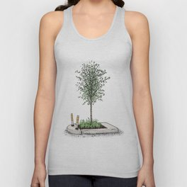 The Tree on the Traffic Island Unisex Tank Top