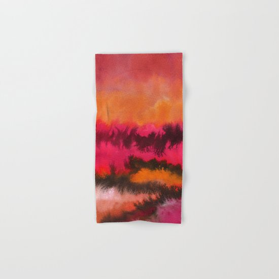 Watercolor abstract landscape 26 Hand & Bath Towel