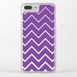 Purple Zigzag Chevron Pattern Clear iPhone Case