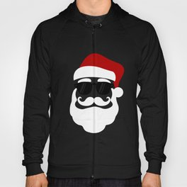 Hipster Santa Claus With Sunglasses Funny Gift for Christmas Hoody
