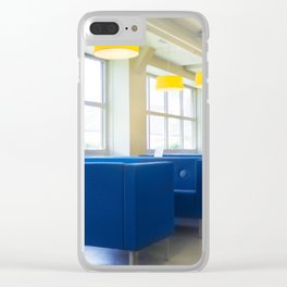 Blue Cafe Clear iPhone Case
