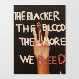 BLACKER Canvas Print