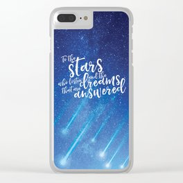 To the stars who listen and the dreams that are answered - ACOMAF Clear iPhone Case