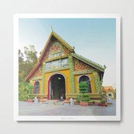 Buddhist Temple Vientiane Laos Metal Print