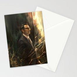 The Abyss Gazes Back Stationery Cards