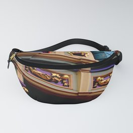 Grand Dame With Old Blue Fanny Pack