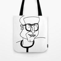 dad Tote Bags featuring Dad by EllaG
