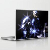 daft punk Laptop & iPad Skins featuring Daft Punk by Louten