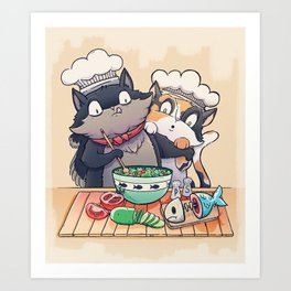 Little Chefs Art Print