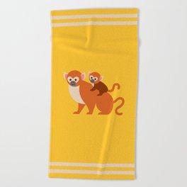 Monkey baby Beach Towel