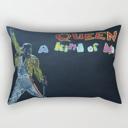 Freddie & Mercury A kind of Magic Tribute Rectangular Pillow