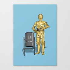 C3PO & Trash Canvas Print