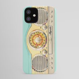 Blue teal Classic Old vintage Radio iPhone Case