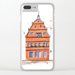 whimsical house in Germany Clear iPhone Case
