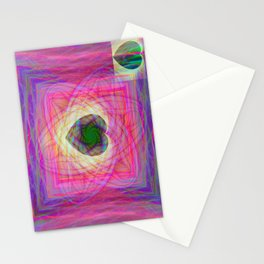 Sacred Geometry Art- Fractal Art- Abstract Art- Helix- Torus- Double Yum Stationery Cards