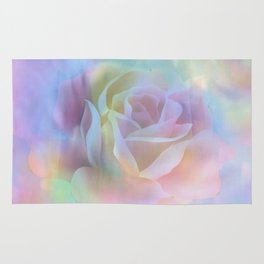 Pastel Watercolor Rose Rug