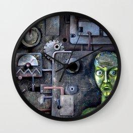 crazy horror techno sadness Wall Clock