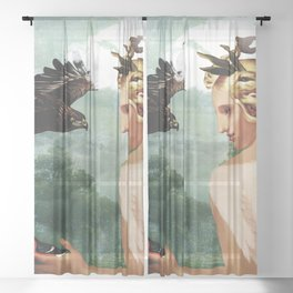The defender Sheer Curtain