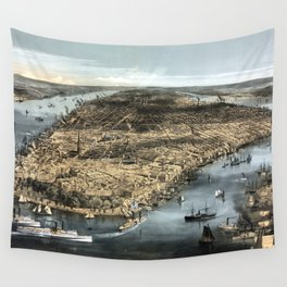 New York-1856 Wall Tapestry