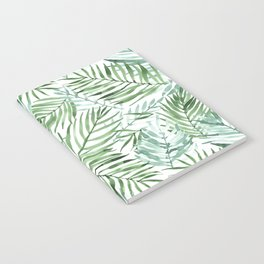 Watercolor palm leaves pattern Notebook