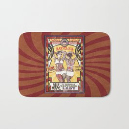 """""""Millie Normel- the Totally Tattooed Lady"""" Sideshow Poster Bath Mat"""