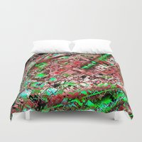 los angeles Duvet Covers featuring los angeles by donphil