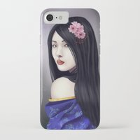 geisha iPhone & iPod Cases featuring Geisha by Gosia
