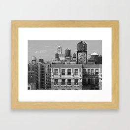 New York City Rooftops Framed Art Print